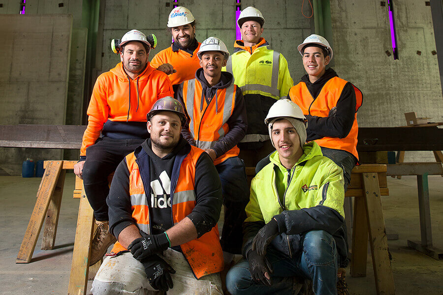 A team of dedicated professionals working on Newport Mosque