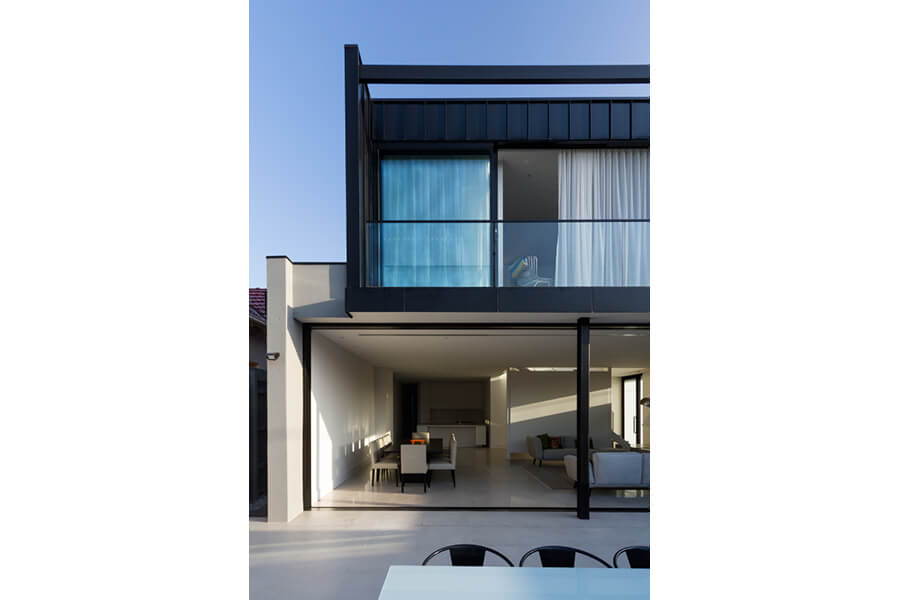 Two-Townhouses---Sliding-Doors,-View-from-Backyard