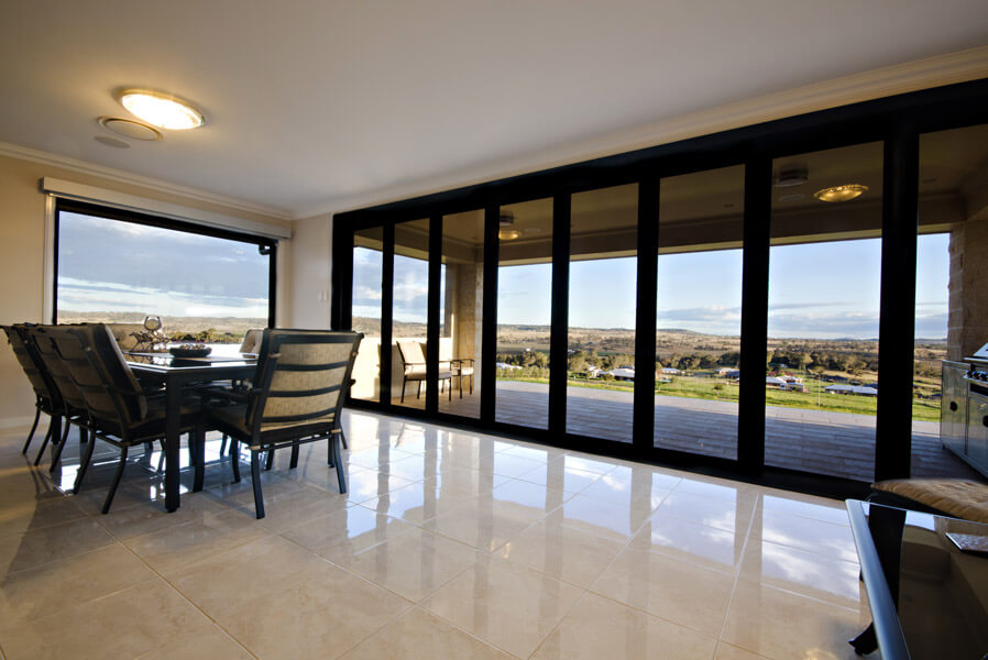 Bi Fold Doors - Black Framed