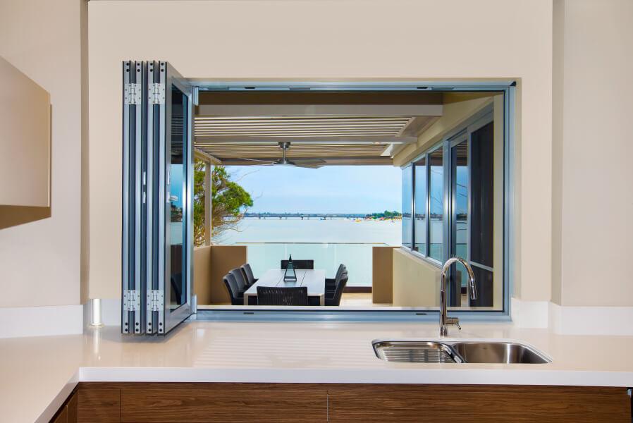 Bi Fold Windows - Modern behind Sink