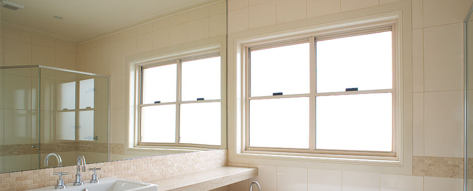 Double Hung Windows - Classic Bathroom