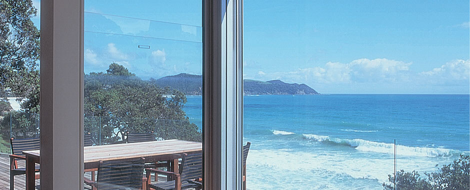 Double Hung Windows - Sashless with Beach View