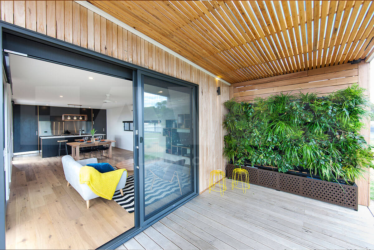 Sliding Doors - Green Wall