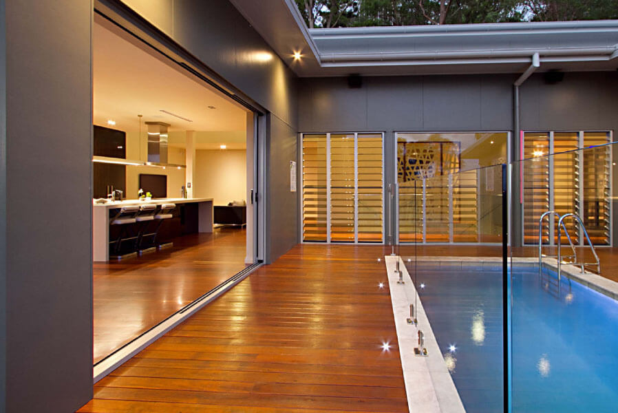 Sliding Doors - Pool and Backyard