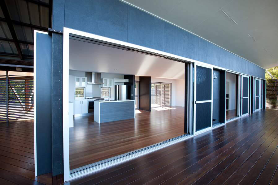 Sliding Doors - White Frame