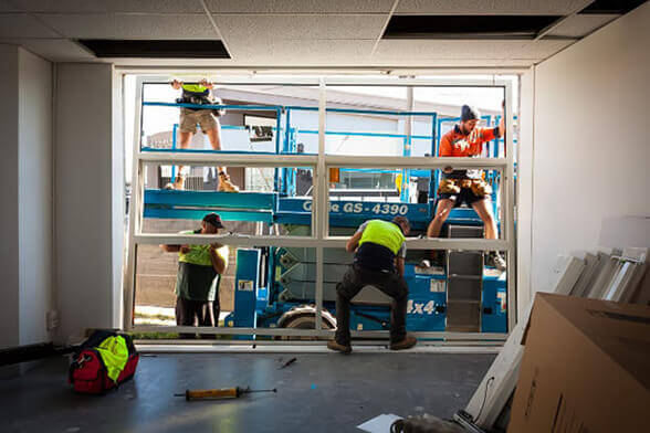 Our construction team works hard to both remove old windows and install your new windows.
